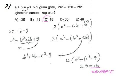 üçrenk 10sınıf Matematik çarpanlara Ayırma Konusu çözümleri Test 12