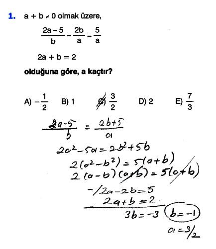 Supara Tyt Matematik çarpanlara Ayırma Test 6 çözümleri Matematik
