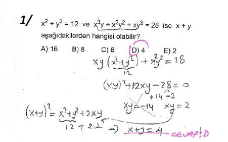 üçrenk 10sınıf Matematik çarpanlara Ayırma Konusu çözümleri Test 11