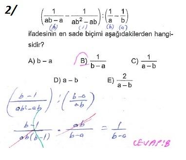 üçrenk 10sınıf Matematik çarpanlara Ayırma Konusu çözümleri Test 6
